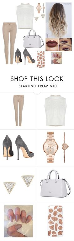 """""""Cute :)"""" by rugiledamaseviciute on Polyvore featuring beauty, 7 For All Mankind, Gianvito Rossi, Michael Kors, Adina Reyter and Skinnydip"""