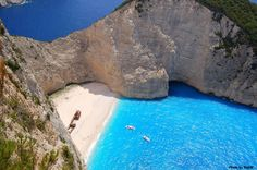 Ship Wreck Cove , Zakynthos island, Greece..
