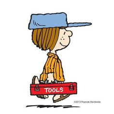 Peppermint Patty's tools of trade.