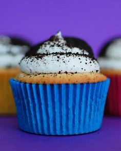 Oreo Cupcakes- need to try again mixing ingredients in a different order- was a big mess mixing it as directed