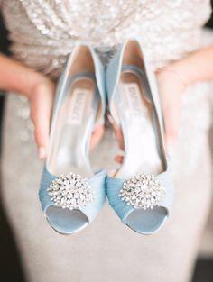 Zapatos de novia glamurosos :)