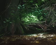 Nature Illustrations on Behance Environment Concept Art, Environment Design, Bg Design, Digital Art Tutorial, Animation Background, Fantasy Landscape, Background Pictures, Environmental Art, Nature Paintings
