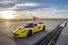 Hennessey's Venom GT Spyder has set a new world record, reaching mph to become the world's fastest convertible. Porsche, Audi, Bmw, Ferrari, Lamborghini Cars, Convertible, Hennessey Venom Gt, Ford, Top Cars