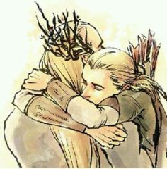 homecoming / This might be my favorite art of Thranduil and Legolas ever.... <3
