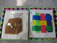 Key and padlock page. Weaving page.