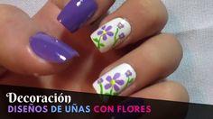 Ideas De Diseños De Uñas Con Flores - PASO A PASO - YouTube