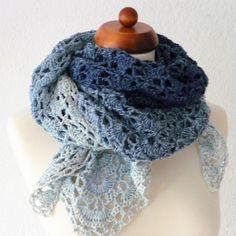 Crochet Motifs, Crochet Poncho, Crochet Scarves, Diy Crochet, Crochet Crafts, Crochet Clothes, Crochet Hooks, Crochet Stitches, Knitting Patterns Free