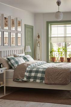 Rustic bedroom in light tones IKEA Germany Ikea Home, Home Decor Bedroom, Interior Design Inspiration, Rustic, House, Furniture, Solid Wood, Ideas, Farmhouse