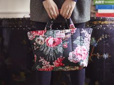 Bloomsbury Bouquet Black Padded Tote | Cath Kidston AW15 |
