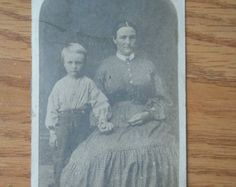 Vintage photo of woman and child