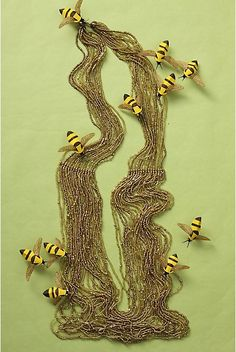 Anthropologie Necklace with Bees