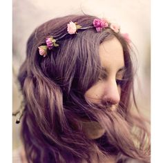 Wedding flower crown, Pink Bridal hair accessory, Rose headband,... (3.065 RUB) ❤ liked on Polyvore featuring accessories, hair accessories, hair, pictures, girls, floral garland, flower crown, bridal headband, pink headband and flower crown headband