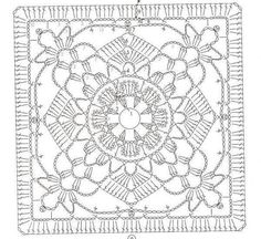 Flower Lace Square Photo ByGranny Square Patterns Certainly Handygrannys squares i know thisBeautiful granny square with pPhoto from album схемы on Yandex. Crochet Motif Patterns, Crochet Blocks, Crochet Diagram, Crochet Chart, Crochet Squares, Crochet Granny, Crochet Designs, Crochet Doilies, Crochet Stitches
