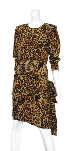 Vintage Yves Saint Laurent leopard Dress @ Resurrection Vintage #YSL