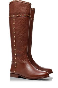 Studded riding boots by Tory Burch #fallmusthave