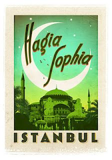 Hagia Sophia Instanbul,  Vintage Designed Turkey Posters by Emrah Yucel | Photocholics