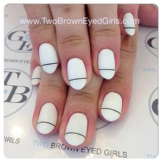 nailart #nails #twobrowneyedgirls #losangeles #lanails #naildesign #nailswag #nailpolish #polishart #nailartstudio #nailit #nailgasm #art #gel #white #lines #Padgram