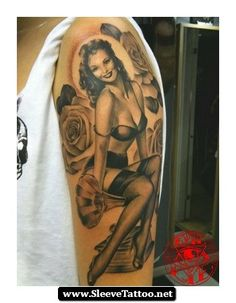 pin up tattoos for men | ... %20Sleeve%20Tattoos%20For%20Men%2009 Pin Up Sleeve Tattoos For Men 09