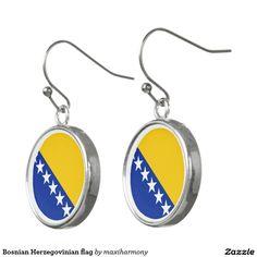 Bosnian Herzegovinian flag Earrings