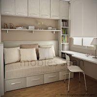 Habitaciones Juveniles - Comfortable Tutorial and Ideas Single Bedroom, Small Room Bedroom, Trendy Bedroom, Small Rooms, Bedroom Decor, Bedroom Kids, Girl Bedrooms, Luxury Bedroom Furniture, Office Furniture Design