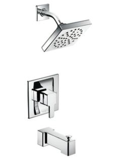 When shopping for fixtures, don't just walk by the tub packages. These packages usually include a control, a tub filler and a showerhead. The tub filler can be omitted and the water line sent straight to the shower head instead. A simple system like this is perfect for a basic one-fixture shower. Often the tub packages are priced better than shower-only fixtures. Mixing and matching a couple flow valves or a handheld with a tub package can help you save a lot of money in the long run