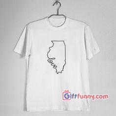 184101891e64 Chicago Shirt - Love Chicago Shirt - Funny Valentine Shirt. Legrační TričkaŠťastného  Valentina