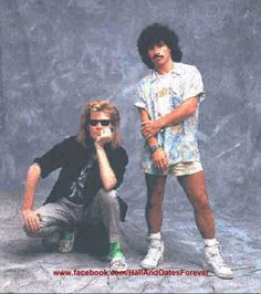 Hall and Oates picture taken mid Like this photo? Please join my FB page to… Famous Duos, John Oates, Daryl Hall, Hall & Oates, Old Music, George Michael, My Fb, Atheist, Live Aid