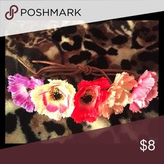 💐Flower Head Tie💐 Beautiful details! All different color flowers! PINK Victoria's Secret Accessories Hair Accessories