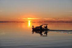 Αμβρακικός - Η θέα στο ηλιοβασίλεμα από το Μενίδι