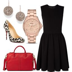 A fashion look from December 2013 featuring By Malene Birger dresses, Christian Louboutin pumps and FOSSIL handbags. Browse and shop related looks.