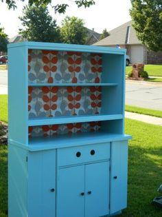 :):):)Vintage Tiffany Blue China Hutch by Shelley Chic:):) $385.00