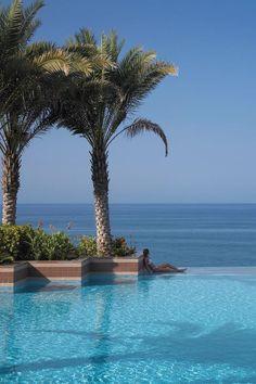 Beautiful pool at shangri La Barr Aj Jissah