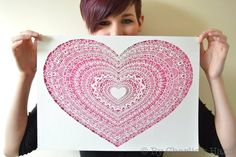 Lace Heart Papercut By Charlie's Hand