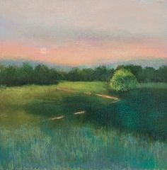 """LOIS GOLD - End of the Day Oil Pastel and Oil on canvas 20"""" x 20"""""""