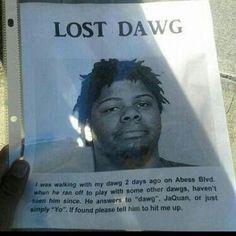 I Lost My Dawg! lol
