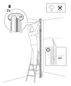I need to divide a room, without putting anything into the wall or ceiling. I thought I'd put up a room divider curtain using ELVARLI posts. Ikea Room Divider, Room Divider Curtain, Room Dividers, Elvarli Ikea, Tiny Bedroom Design, Storage Hacks, Cool Diy Projects, Bedroom Furniture, Curtains