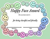 Certificate Template For Kids Perfect Attendance Award