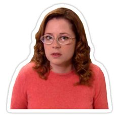 """pam with glasses"" Stickers by bellpitkin 