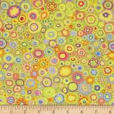 Kaffe Fassett Spring 2014 Collective Sun Paperweight Gold from @fabricdotcom  Designed by Kaffe Fassett for Westminster Fabrics, this cotton print is perfect for quilting, apparel and home decor accents. Colors include lavender, pink, green and yellow.