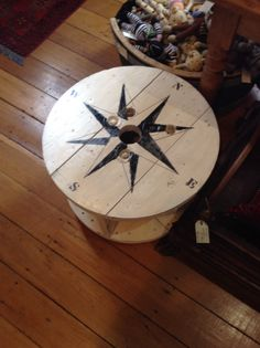 Compass coffee table.