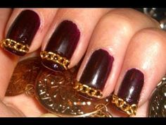 Gold Chain Linked Nails...oh my goodness!