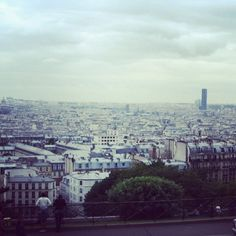 A view of the city. Paris