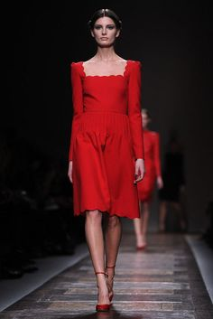 I think it would look better with 3/4 length sleeves, but I still love it! Valentino fall 2012
