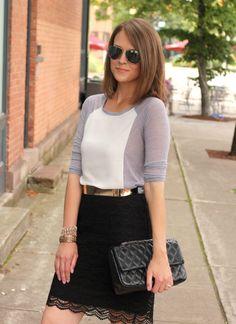 Scalloped Lace ( Shirts & Blouses & Lace Skirts )