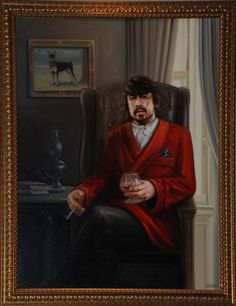 The Dave Grohl painting that can be found inside the Foo Fighters' Studio 606.