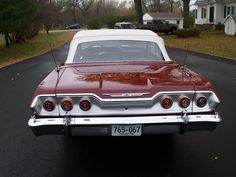 1963 Chevrolet Impala SS 409 Convertible 07 = Learned to drive in this car. Chevrolet Impala, Chevrolet Chevelle, Convertible, Chevy Muscle Cars, American Classic Cars, Old School Cars, Us Cars, Amazing Cars, Vintage Cars