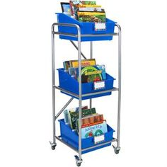 Really Good Slim-Line Mobile Rack With 3 Picture Book Bins™