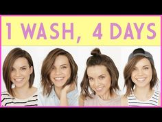 1 Wash, 4 Days! How to Extend Your Hairstyle ◈ Ingrid Nilsen - YouTube