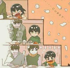 Gai sensei,Rock lee y Metal lee - Naruto