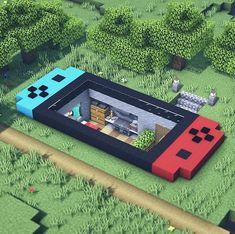 Minecraft Cool, Easy Minecraft Houses, Minecraft Plans, Minecraft House Designs, Minecraft Decorations, Minecraft Tutorial, Minecraft Blueprints, Minecraft Crafts, Minecraft Buildings